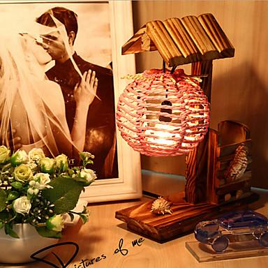 Kreativ tre hus med penn container dekorasjon bordlampe soverom ...