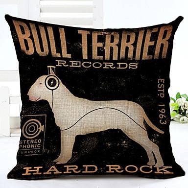 Novelty Dog Pattern Linen Pillowcase Sofa Home Decor