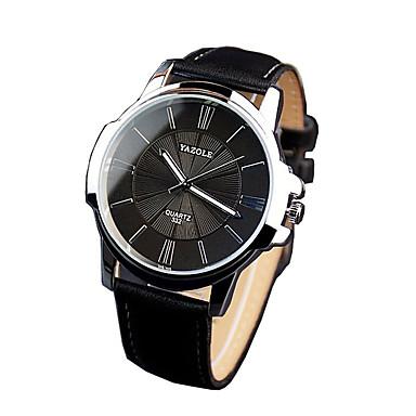332 YAZOLE Fashion Men's Business Dress Watch Leather Strap Blue Ray Glass Noctilucent Analog Quartz Wrist Watches