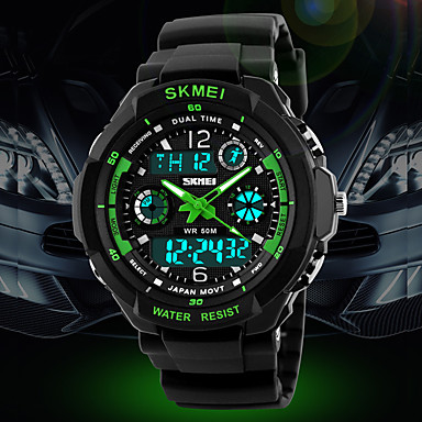 SKMEI® Men's Watch Sport Watch Japanese Quartz Analog-Digital Watch Dual Time Zones Chronograph Calendar LCD Cool Watch Unique Watch Fashion Watch