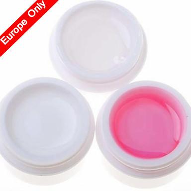 3PCS  Nail Art UV Gel (1 Clear &1 White & 1 Pink)