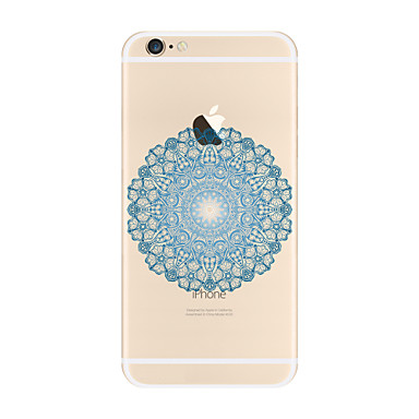Transparent Pattern Case Mandala Soft TPU Apple iPhone 7 Plus 6 5 SE 5C iphone 4
