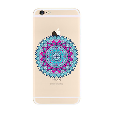 Transparent Pattern Case Mandala Soft TPU Apple iPhone 7 Plus 6 5 SE 5C iphone 4