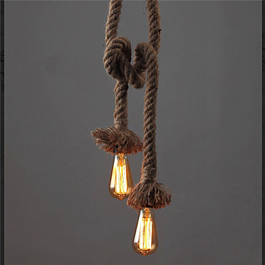 1 Light Diy Art Hemp Rope Light Creative Hemp Rope