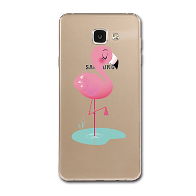 For Samsung Galaxy A7(2017) A8 Case Cover Transparent Pattern Back Cover Case Cartoon Flamingo Soft TPU for Samsung Galaxy A3(2017) A5(2017)