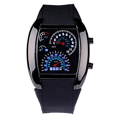 Светодиодная версия приборной панели Рекламный вахта автомобиля Сектор спорта Мужчины Наручные авиационные часы