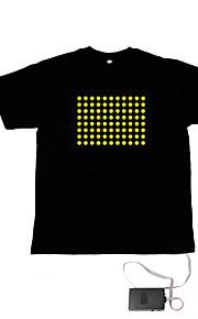lyd og musik aktiveret spektrum VU-meter el visualizer t-shirt (4 * aaa)
