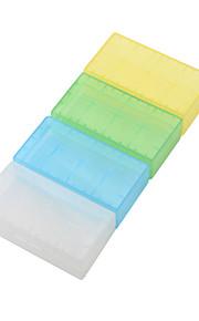 water-proof doorzichtige plastic geval voor 18650,16340 batterij (4 pack, willekeurige kleur)