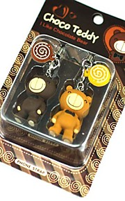 Lollipop lindo peluche oso par estilo correa del teléfono celular