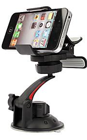 Supporto universale da Auto, ruotabile, per iPhone 4, 4S, Samsung i9200, i9250 e GPS - Nero