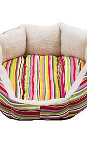 Canvas Soft Octangle Folding Dog Bed (tilfældigt mønster, SM)