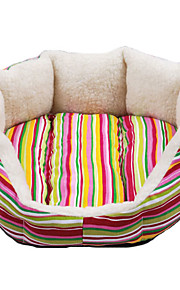 Canvas Soft Octangle Folding Dog Bed (Random Pattern,S-M)