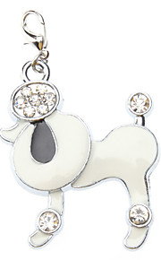 Dog tags Rhinestone Decorated Poodle Style Collar Charm for Dogs Cats