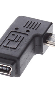 Micro USB Male til Mini USB Female Adapter