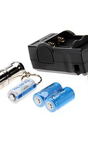 trustfire mini-01 3-mode cree T6 XM-L levou lanterna set (1000lm, 1xcr123, prata)