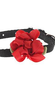 Katzen / Hunde Halsbänder Rot / Schwarz / Blau / Rosa / Purpur / Beige Gewebe