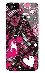 Heart-Shape Fronte Pattern e Sticker posteriore per iPhone 5