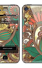 Elegante Motivo ornamentale anteriore e posteriore ente completo Adesivi Protector per iPhone 5