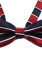 Double Color Stripe bowknot Neck Tie for kjæledyr Hunder Katter (Neck: 26-38cm)