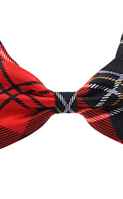 Concise Plaid Pattern bowknot Neck Tie for Husdyr Hunder Katter (assortert farge, Neck: 26-38cm)