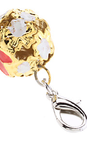 Flower Pattern Hollow Out Bell Collar Charms for Dogs Cats (Random Color)
