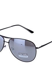 Unisex Mørkegrå Lens sort ramme Aviator solbriller