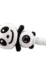 3,5 mm Cartoon Cute Stereo Panda mønster Anti-støv Plug