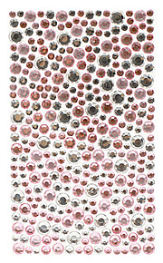 Lovely Pink and Silver Crystal Jewelry Protective Body Sticker for Cellphone