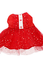 Cat / Dog Dress Red Spring/Fall Stars Wedding