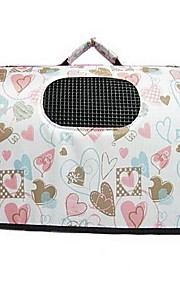 Colorful Hearts Pattern Young Girls Style Carrier Bag with Straps for Pets Dogs (Assorted Sizes)