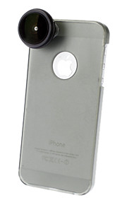 0.24X Super Fisheye Lens med Ultraslim Matte PC Hard Case for iPhone 5