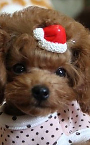 Lovely Footprints Christmas Hat Pet Hairpin(Random Color)
