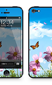 """Da Code ™ Skin for iPhone 4/4S: """"Flower and Butterflies"""" (Plants Series)"""