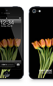 "Codice Da ™ Pelle per iPhone 4/4S: ""Orange Tulips"" (Piante Series)"