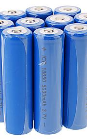 ICR 5000mAh 18650 li-ion oplaadbare batterij (10 stuks)