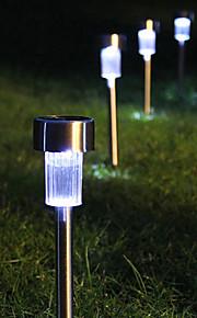 8 acero inoxidable LED blanco de la energía solar luz al aire libre Jardín Decoración Lawn Lamp (CIS-57267)