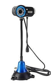 8.0 Megapixels 4-LED USB 2.0 Clip-on PC Camera Webcam