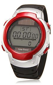Masculino Relógio de Pulso Digital LCD / Calendário / Cronógrafo / alarme Borracha Banda Preta marca-