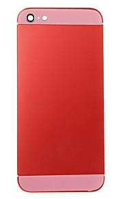 Red Liga de Metal Voltar Bateria Caixa com vidro rosa para iPhone 5