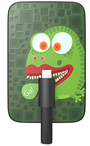 OUNUO 3200mAh Exquisite Craft Frog Monster Pattern 7mm Thickness External Battery with Built-in 8-Pin Cable