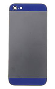Black Metal Alloy Voltar Bateria Caixa com vidro da marinha para iPhone 5