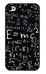 Massa energi ekvation Mönster Aluminatcement Hard Case för iPhone 4/4S