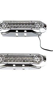 2 Universal White 28 LED Daytime Running Light DRL Car Fog Day Driving Lamp