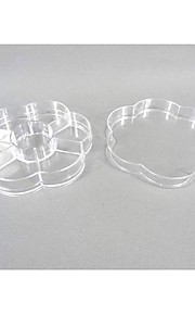 Pétales Plastique Forme 6 compartiments mallette de rangement transparent
