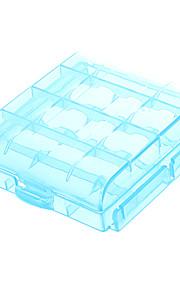 AA / AAA batterij beschermhoes houder Lichtblauw