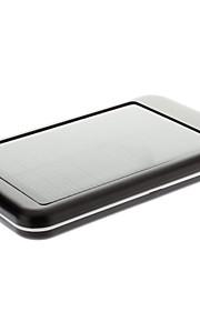5000mAh solare esterna Nero Batteria per dispositivo mobile