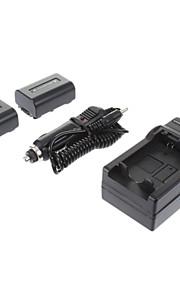 ismartdigi-Sony NP-FV50 (2 stuks) 1030mah, 7.2v camera accu + autolader