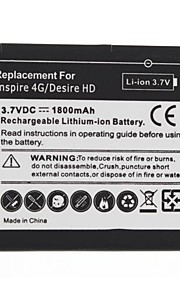 1800mAh Replacement Battery HTC Inspire 4G/Desire HD