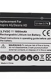 1800mAh bateria de substituição para o HTC Inspire 4G/Desire HD