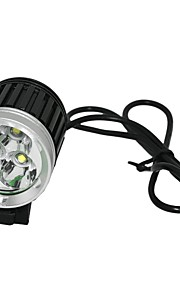 Marsing MS-04 3 x Cree XM-L U2 3000lm 3-Mode Cool White Bike Light / Farol - preto (4 x 18650)